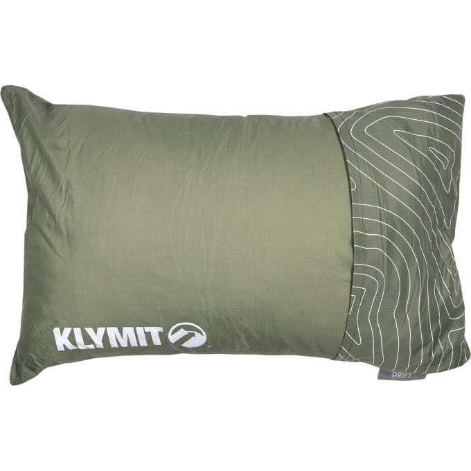 Надувная подушка KLYMIT DRIFT CAMP PILLOW REGULAR Зеленая 12DRGR01C